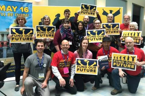 MTA Annual Meeting delegates from PSU support public education funding