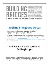 Building Bridges - Seeking Immigrant Voices