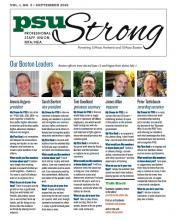 PSU Strong September 2018 newsletter front page image