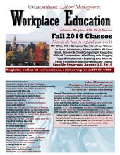 Labor Management Worplace Education Fall 2016 Poster