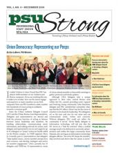 PSU Strong Newsletter December 2018 cover