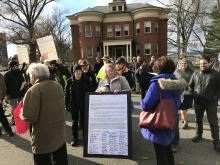 PSU rally at UMass Amherst