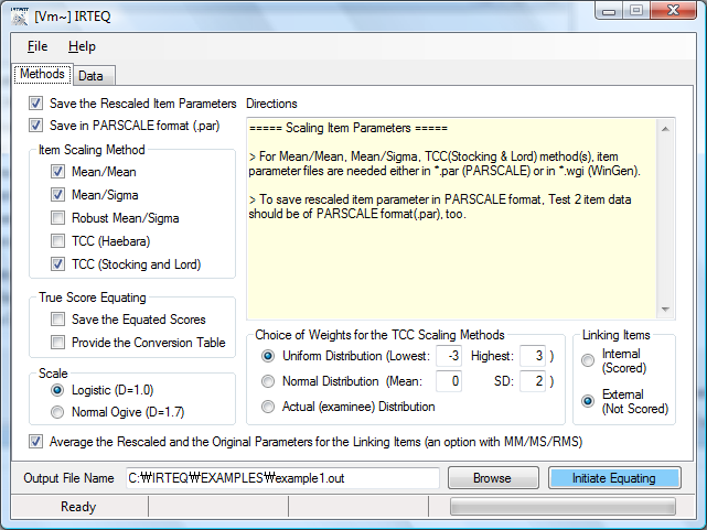 IRTEQ - Windows Application that Implements IRT Scaling and