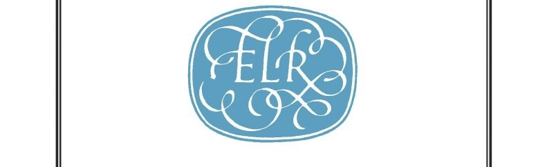 The ELR Logo on a blue background