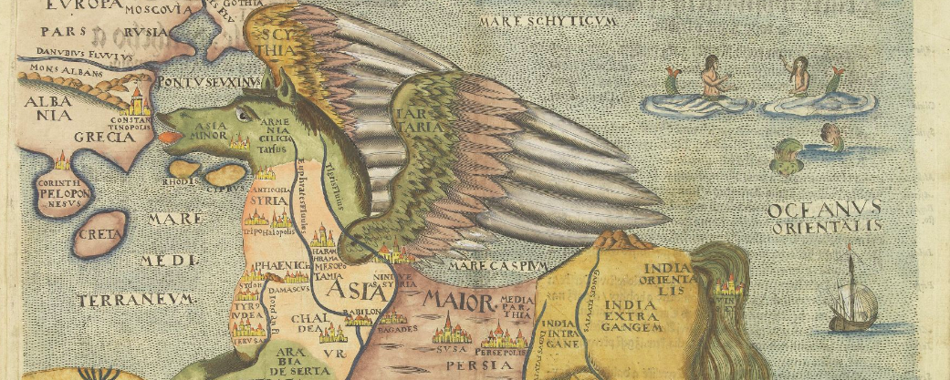 Asia is presented as the mythical winged horse Pegasus.