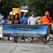 image of a March for a culture of peace