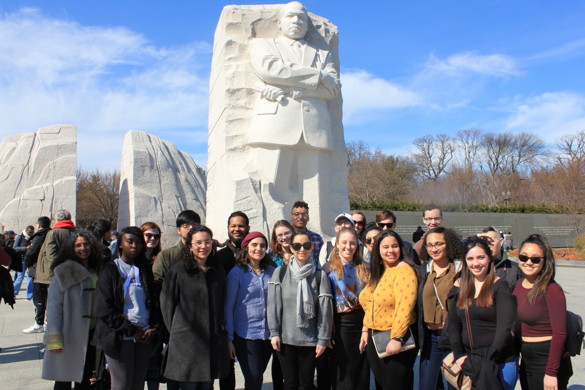 Academic Fellows in front of the Martin Luther King Jr. Monument