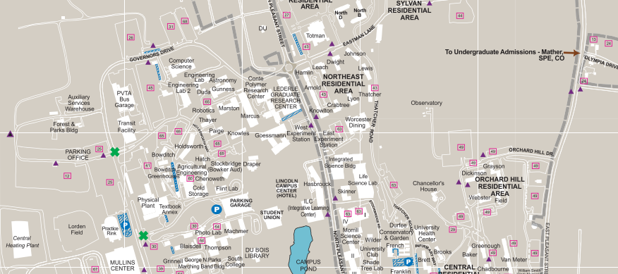 Map Of Umass Amherst Campus Maps | College of Social and Behavioral Sciences | UMass