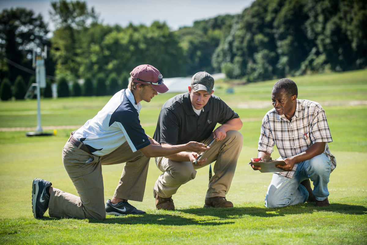 UMass Turfgrass majors work outside, gain hands-on experience, and get jobs