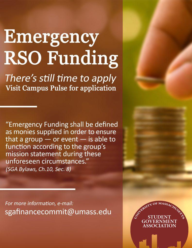SGA Emergency Funding Flyer