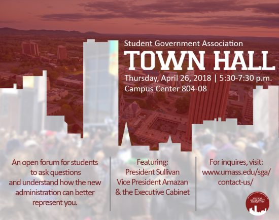 SGA Town Hall Flyer