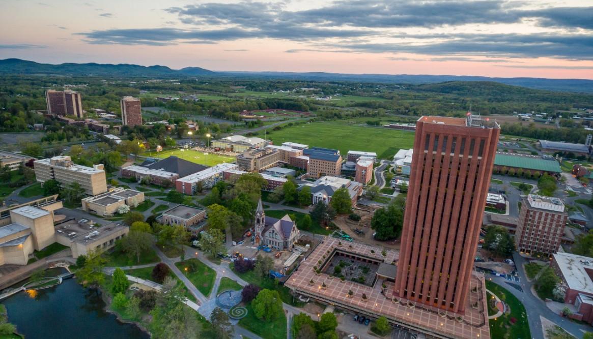 Photo of UMass Amherst Campus Photo Credit: John Solem/ University of Massachusetts Amherst