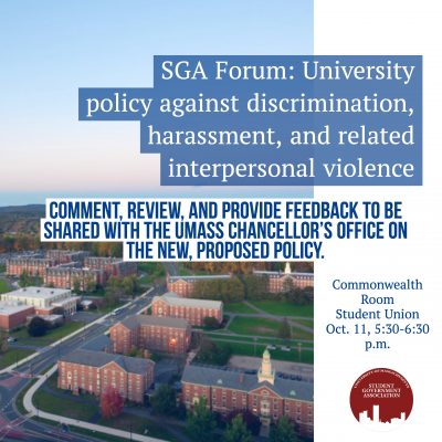 SGA Forum Flyer