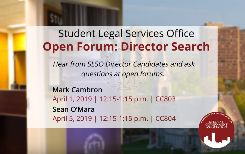 Flyer for Student Legal Services Office