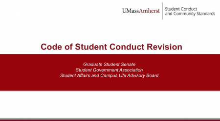 Code of Student Conduct Presentation Cover Slide