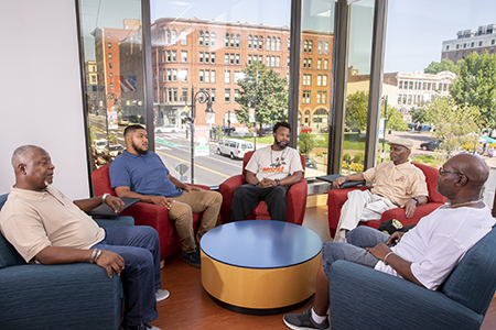 Members of the Men of Color Health Awareness (MOCHA) group in Springfield, MA