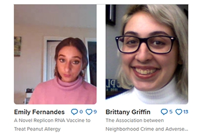 Screenshot from Research Day Flipgrid page