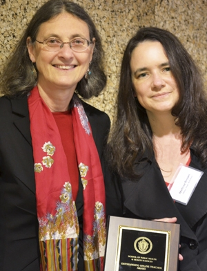 University of Massachusetts School of Public Health and Health Sciences Dean Aelion and Nutrition faculty Melissa Brown