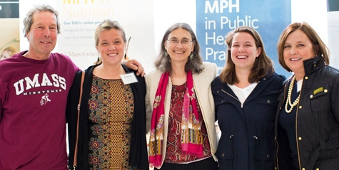 University of Massachusetts Amherst School of Public Health and Health Sciences Dean Marjorie Aelion with guests