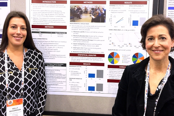 University of Massachusetts Communication Disorders faculty Kelly Richardson and Lisa Sommers attended the World Parkinson's Congress in Portland, OR