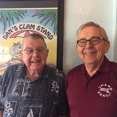 Howard A. Peters (left) with friend and former colleague Donald Robinson (right).