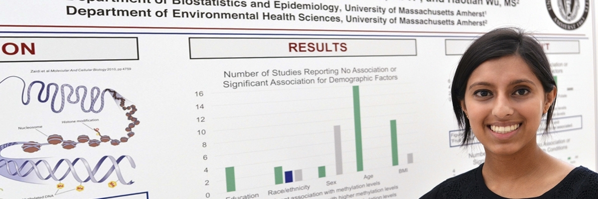 The University of Massachusetts Biostatistics program's masters students unravel complex health issues by integrating biostatistics with innovative research in the biological sciences, along with the core areas of public health