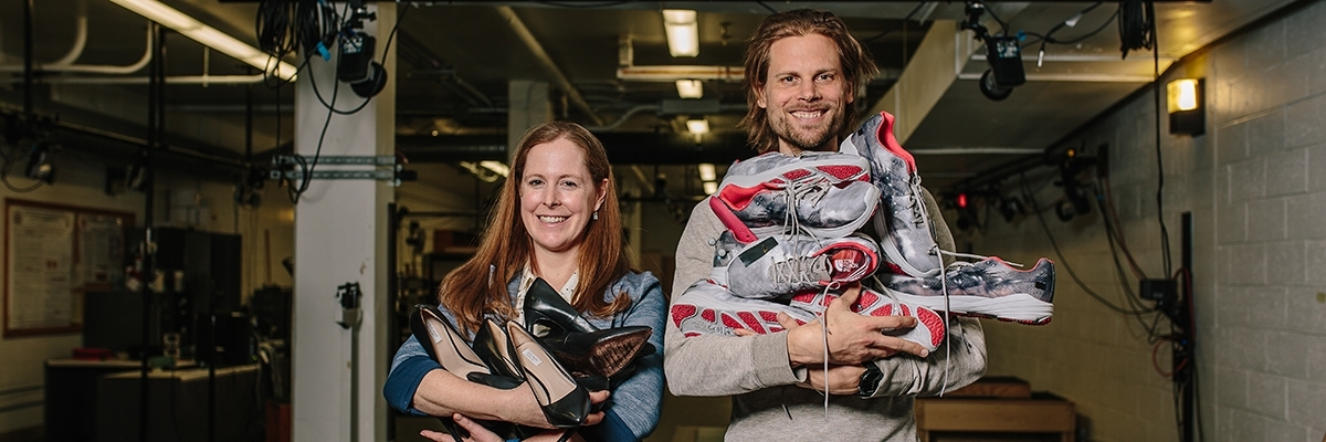 UMass Amherst kinesiology faculty Katherine Boyer and Wouter Hoogkamer