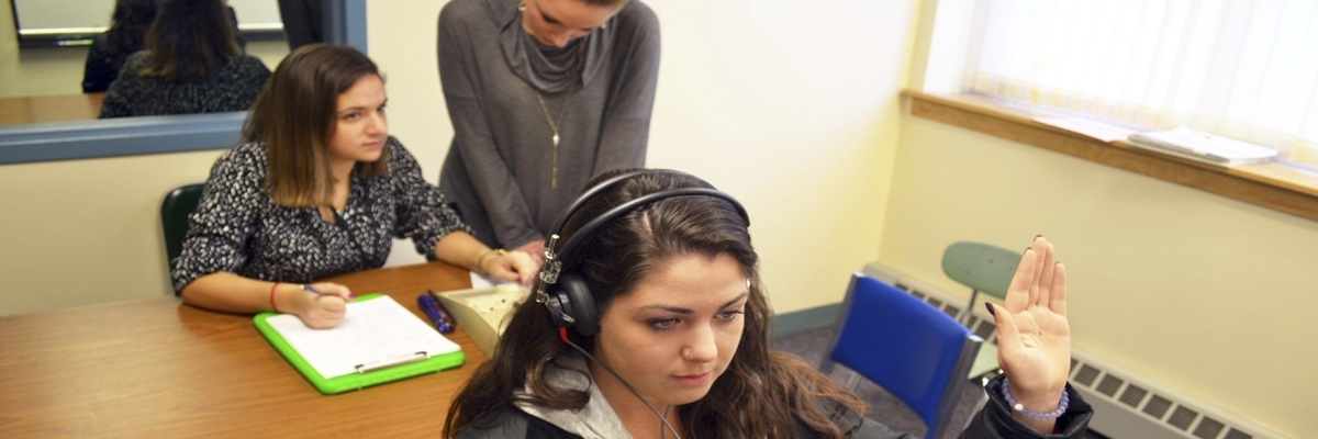 University of Massachusetts Department of Communication Disorders audiology students