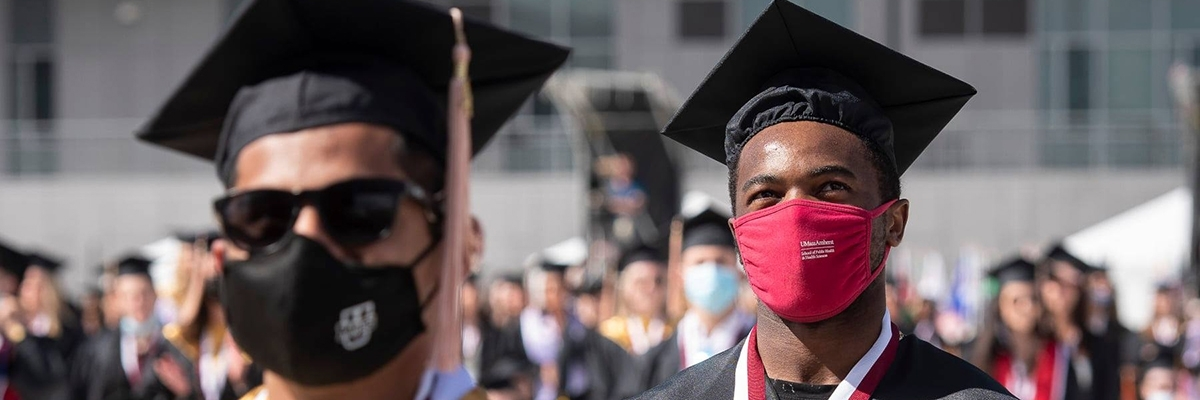 UMass students at the 2021 undergraduate commencement