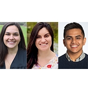 SPHHS Fulbright recipients Collean Beatriz, Lily Clemente, and Gaurav Dangol