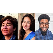 SPHHS graduate students Camille Collins Lovell, Emily Lucero, and Stevaughn Smith