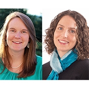 UMass Amherst Health Promotion and Policy faculty Kimberley Geissler and Jennifer Whitehill