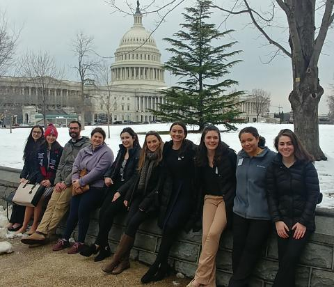 SPP students outside the US Capitol