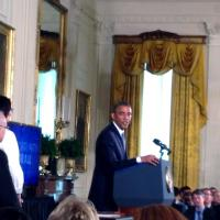 Lee Badgett at White House