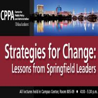 poster for Strategies for Change event