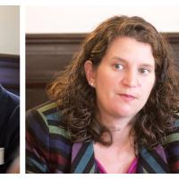 University of Massachusetts School of Public Policy (SPP) students met with alum Rebecca Richards