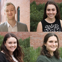composite of headshots of Gabriel Adams-Keane, Elizabeth Berman, Sarah Nordberg and Gina Vitale