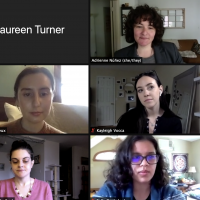 Screenshot of students presenting in a Zoom meeting