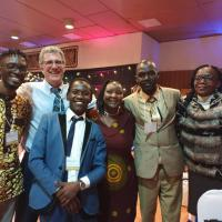 Professor Charlie Schweik and members of the World Librarians Kenyan Chapter