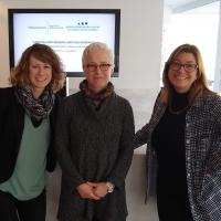 Christa Burdick, Jackie Urla and Krista Harper at the workshop at the Agirre Center