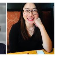 Composite of headshots of Juniper Katz and Viviana Chiu-Sik Wu