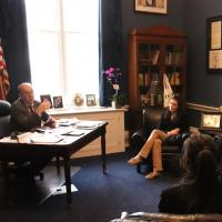 School of Public Policy students meeting with Rep Jim McGovern in his office