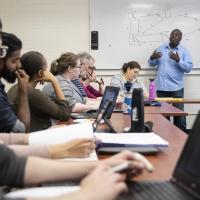 Professor Brian Sargent teaching class