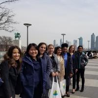 School of Public Policy and UWiL students outside the United Nations
