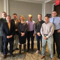 Group photo of Thomas Piñeros-Shields, Nikolay Anguelov, Michael Goodman, Satu Zoller, David Cash, Chad McGuire, Michael Johnson, Alasdair Roberts