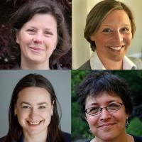 Headshots of legislators Jo Comerford, Natalie Blais, Lindsay Sabadosa, Mindy Domb