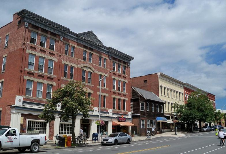 Downtown Amherst streetscape