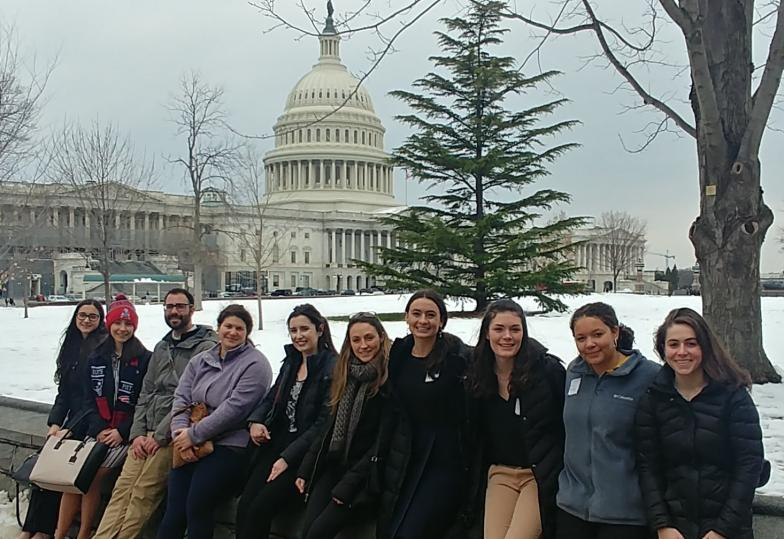 School of Public Policy students outside the US Capitol