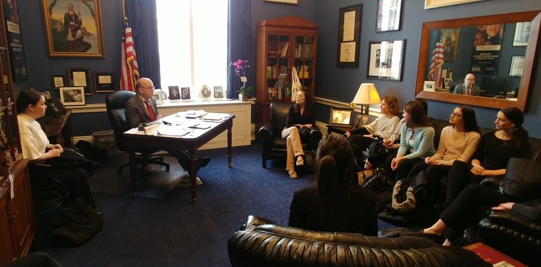 SPP students meeting with US Rep Jim McGovern in his Washington office