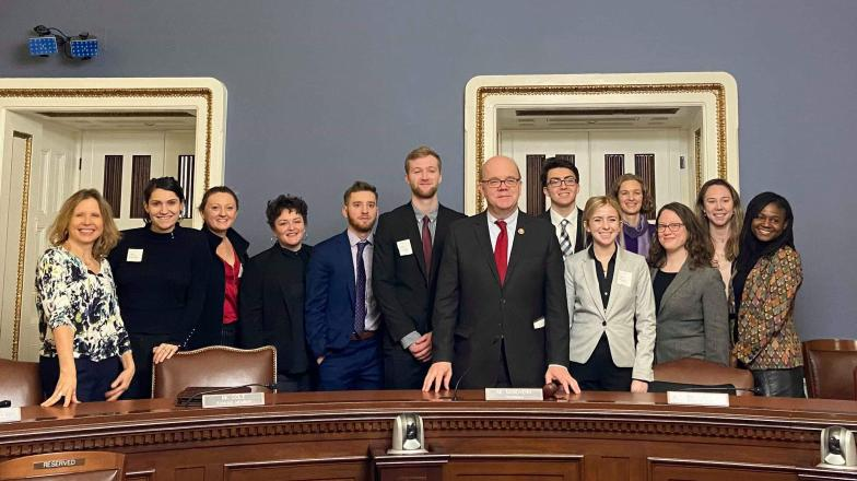 SPP students with US Rep Jim McGovern